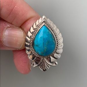 Indie and Harper Turquoise Sterling Silver Ring